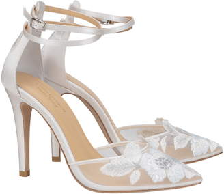 c220cb90973 Bella Belle Embroidered Ankle Strap Pump