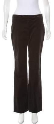 Alexander McQueen Mid-Rise Velvet Pants