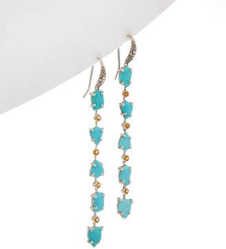 Stephen Dweck Aurora Silver Gemstone Earrings