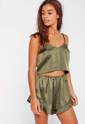 Missguided Satin Cami Short PJ Set