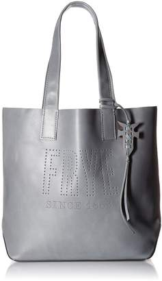 Frye Carson Logo Perf Leather Tote Bag