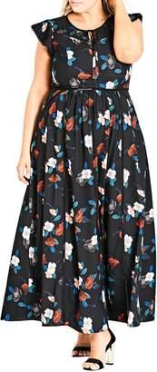 City Chic Spring Garden Maxi Dress