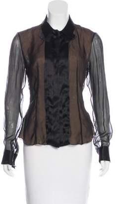 Emporio Armani Sheer Button-Up Blouse