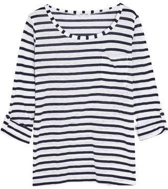 Splendid - Venice Striped Slub-jersey Top - White $90 thestylecure.com