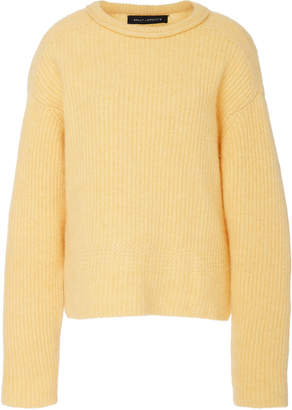 Sally LaPointe Airy Cashmere Silk Ribbed Sweater