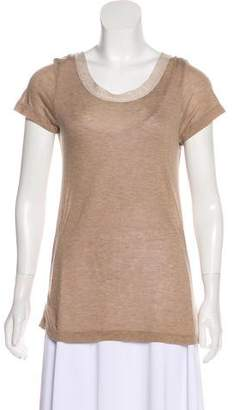 Clu Short Sleeve Scoop Neck Top