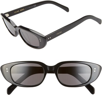 Celine 51mm Oval Cat Eye Sunglasses
