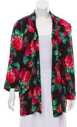 Anna Sui Printed Open Front Coat