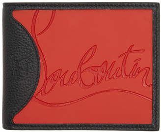 Christian Louboutin Black and Red Coolcard Bifold Wallet