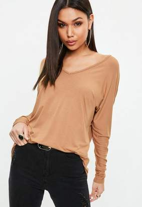 Missguided Deep Plunge Tunic Top