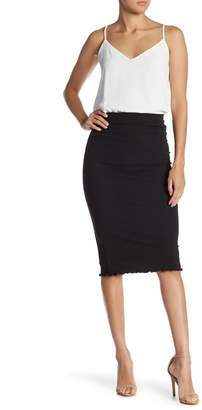 GOOD LUCK GEM Rib Knit Pencil Skirt