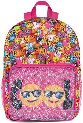 Confetti Smile Face Flip Sequin Backpack