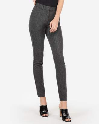 Express High Waisted Chevron Print Skinny Pant