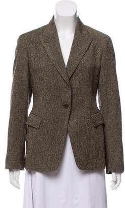 Donna Karan Wool Tweed Blazer