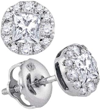 Cosanuova - Princess Diamond Stud Earrings in 14k White Gold