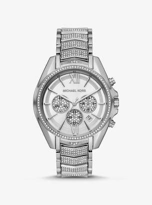 Michael Kors Oversized Whitney Pave Silver-Tone Watch