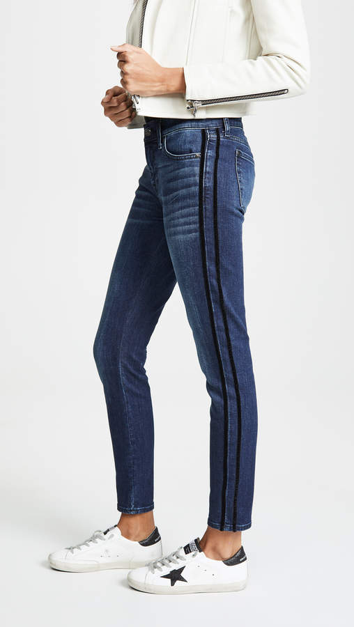 The Ankle Skinny with Tux Stripes