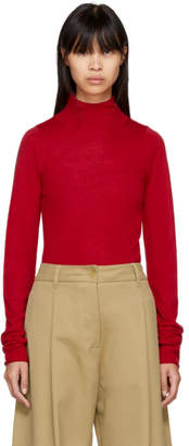 Joseph Red Merino Turtleneck