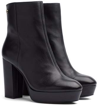 Tommy Hilfiger Leather Block Heeled Boot