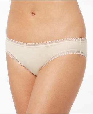 Charter Club Cotton Lace-Trim Bikini