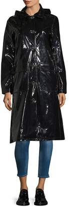 Jane Post Women's Long-Sleeve Glossy Rain Coat