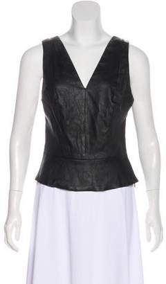 Robert Rodriguez Sleeveless Leather Top