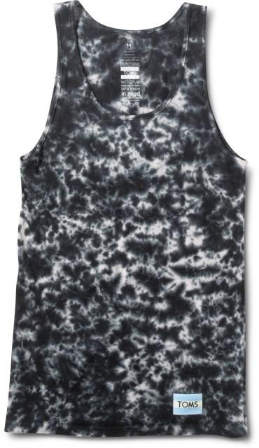 Toms Unisex black tie-dyed tank