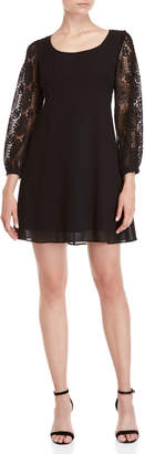 Nanette Lepore Nanette Lace Sleeve A-Line Dress