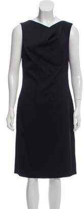 Oscar de la Renta Virgin Wool Midi Dress w/ Tags Black Virgin Wool Midi Dress w/ Tags