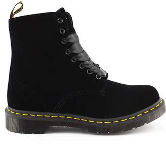 Dr. Martens Black Velvet Ankle Boot.