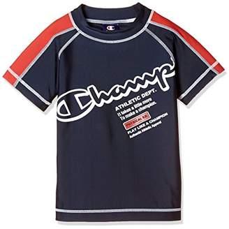 Champion (チャンピオン) - [チャンピオン] 半袖ラッシュガード CX1305 ボーイズ ネイビー 日本 140 (日本サイズ140 相当)