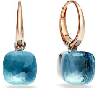 Pomellato Nudo Blue Topaz Rose Gold Earrings