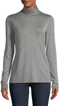 Lafayette 148 New York Dresden Nouveau Jersey Turtleneck Top