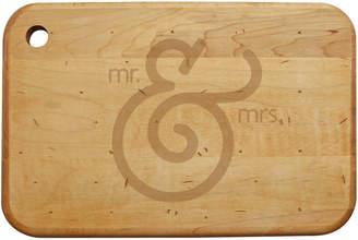 Susquehanna Glass Mr. & Mrs. Cheese Cutting Board