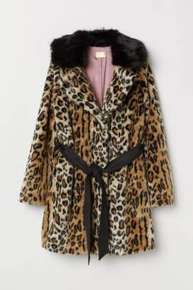H&M Faux Fur Coat - Beige