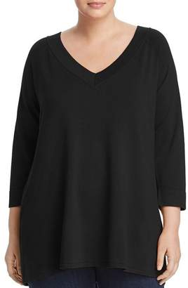525 America Plus V-Neck Swing Tunic Sweater