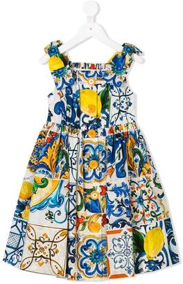 Dolce & Gabbana Majolica print dress
