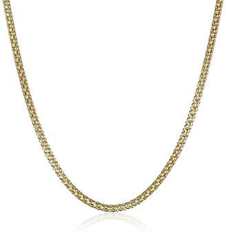 14k Gold Italian 1.5mm Popcorn Chain Necklace