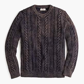 J.Crew Wallace & Barnes cable-knit crew neck sweater in washed cotton