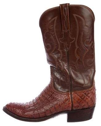 Lucchese Crocodile Cowboy Boots