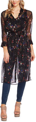 Vince Camuto Country Bouquet Belted Tunic