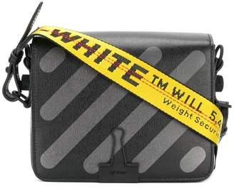 Off-White Diagonal Binder Clip shoulder bag