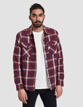 Obey Seattle Jacket Shirt in Red Multi