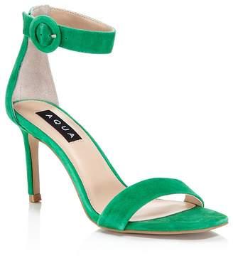 Aqua Women's Seven Suede High Heel Ankle Strap Sandals - 100% Exclusive