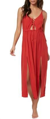 O'Neill Cory Open Back Cover-Up Midi Dress