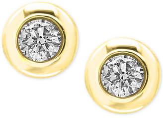 Effy Diamond Bezel Stud Earrings (3/8 ct. t.w.)