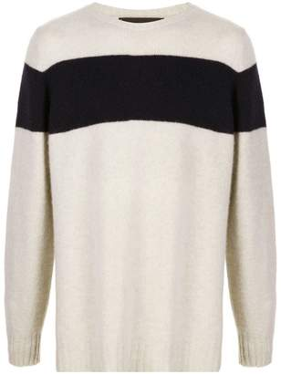 The Elder Statesman Striped Racing cashmere sweater
