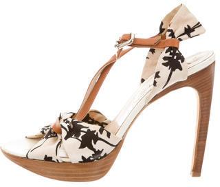 CelineCéline Canvas Platorm Sandals