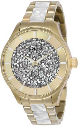 Invicta Angel Womens Gold Tone Bracelet Watch-24666