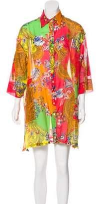 Etro Printed Button-Up Mini Dress